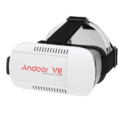 Andoer Virtual Reality Glasses 3D VR Box Glasses Headset for Wireless Bluetooth Selfie Camera Shutter Gamepad for Samsung All 4.7  to 6.0 Inches Smart Phones V2116