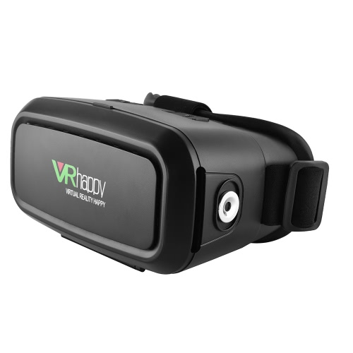 VR Happy Virtual Reality Glasses 3D VR Box Glasses Headset Universal with Magnet Ring for Android iOS Windows Smart Phones with 3.5  to 5.5 Inches V2187