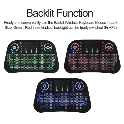 2.4GHz Wireless Keyboard LED Backlit with Touchpad Mouse Remote Control for Android TV BOX HTPC PCTV Dongle &amp; Accessories<br>2.4GHz Wireless Keyboard LED Backlit with Touchpad Mouse Remote Control for Android TV BOX HTPC PC<br><br>Blade Length: 17.4cm