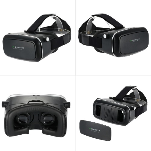 "3D VR Glasses Virtual Reality 3D  Video Movie Game Glasses Head-Mounted 3D Glasses w/ Headband with Wireless Bluetooth V3.0 Gamepad Selfie Camera Shutter for iPhone Samsung / All 3.5 ~ 6.0"""" Smart Phones"" V1809"