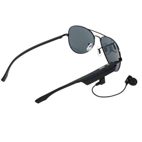 K3 Bluetooth Headset Sunglasses Polarized Glasses & Wireless Bluetooth 4.1 + EDR Music Headphone Hands-free w/ Mic Black for iPhone Samsung LG Android iOS Smart Phones Tablet PC
