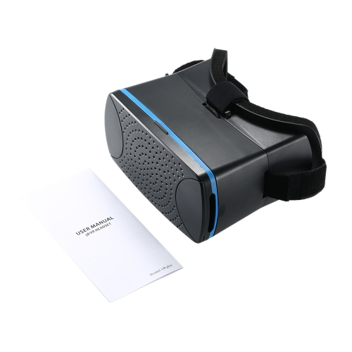 "VR360 Head-Mounted Google Cardboard 3D VR Glasses Virtual Reality 3D VR Video Movies Games Glasses Headband  for iPhone 6 6S Samsung all """"4.5 ~ 6.0"""" Smart Phones Black"" V1715B"