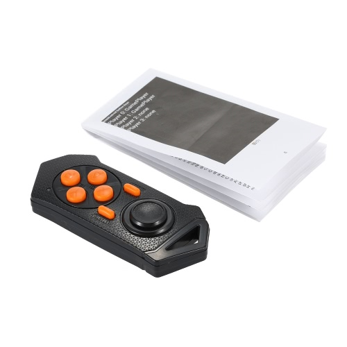 New GS11 Bluetooth Remote Controller Multifunctional Gamepad Remote Self-timer / E-book / Music Player Controller Black + Orange for Virtual Reality Glasses iOS / Android System V1807B