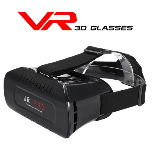 Private VR Pro Virtual Reality Glasses Headset 3D Glasses Movie Game Head-Mounted Display w/ Headband for iOS Android & PC Phones Series within 3.5 ~ 6.2Inches