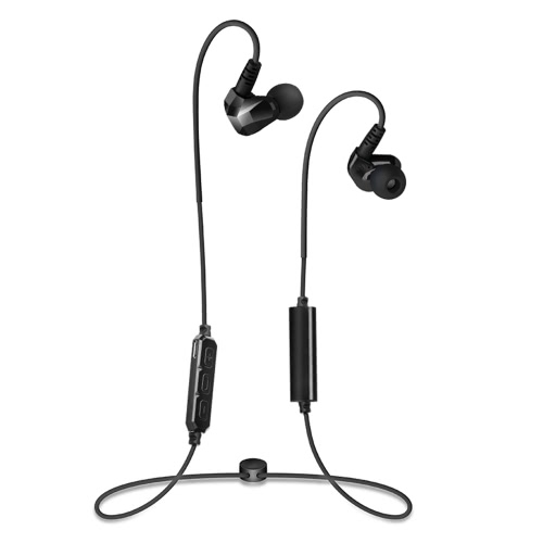 moxpad X90 Bluetooth Headphone In-ear Stereo Bluetooth 4.1 Sport Music Headset Hands-free w/ Mic Black for Running Gym Exercise V2269B