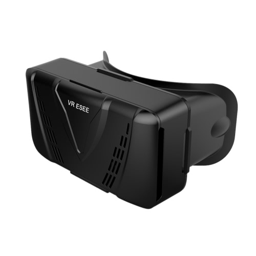 VR ESEE Virtual Reality Glasses 3D VR Box Glasses Headset for Android iOS Windows Smart Phones with 3.5  to 5.5 Inches  Black V2436B