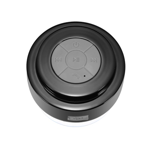 Wireless Bluetooth 3.0 Speaker IPX5 Waterproof Outdoor & Shower Loudspeaker Box w / 3W Acoustic Driver Suction Cup/ Hands-free / Mic Black for Android / iOS Smartphone Tablet PC Notebook Other Bluetooth-enabled Devices V2487B