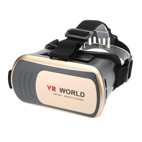 Virtual Reality Glasses 3D VR Box Glasses Headset for Android iOS Windows Smart Phones with 3.5  to 6.0 Inches Gold