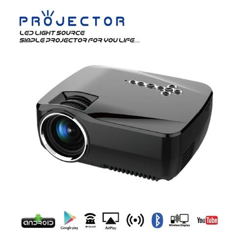 GP70UP LED Projector Android TV Box 800LM 800 * 480 Resolution 2.4G &amp; 5G WiFi Bluetooth 4.0 -UK PlugGP70UP LED Projector Android TV Box 800LM 800 * 480 Resolution 2.4G &amp; 5G WiFi Bluetooth 4.0 -UK Plug<br><br>Blade Length: 23.5cm
