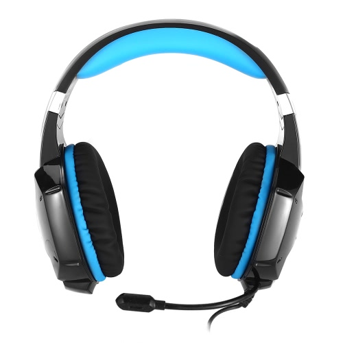 KOTION EACH G1200 3.5mm Gaming Headphone with Mic Headband Headset  Stereo Bass for PS PC Computer Laptop Mobile Phones  Blue V2120BL