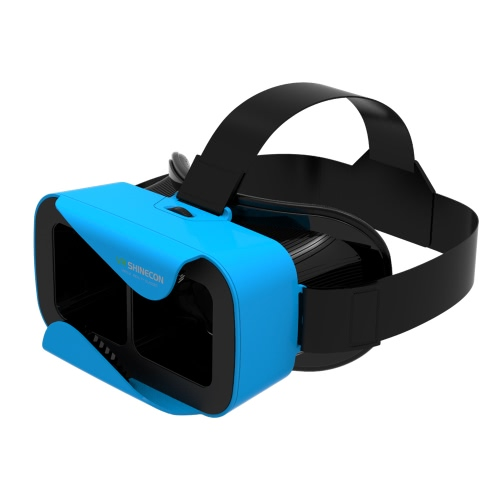 VR shinecon3.0 Xiao Cang Virtual Reality Glasses 3D VR Box Headset 3D Movie Game Glasses Head-Mounted for 4.7 to 6.0 Inches Android iOS Smart Phones Blue