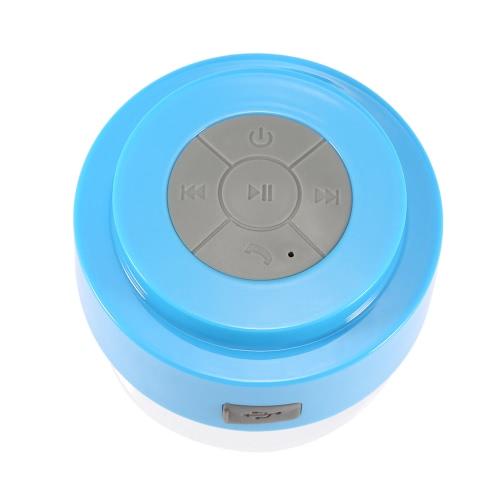 Wireless Bluetooth 3.0 Speaker IPX5 Waterproof Outdoor & Shower Loudspeaker Box w / 3W Acoustic Driver Suction Cup/ Hands-free / Mic Blue for Android / iOS Smartphone Tablet PC Notebook Other Bluetooth-enabled Devices V2487BL