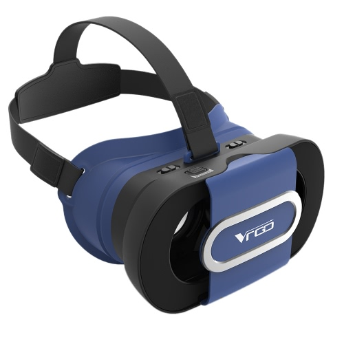 VR GO Virtual Reality Glasses 3D VR Box Foldable VR Headset 3D Movies Games Glasses Immersive Private Theater Universal for Android iOS Smart Phones within 4.7 to 6.0 Inches Blue
