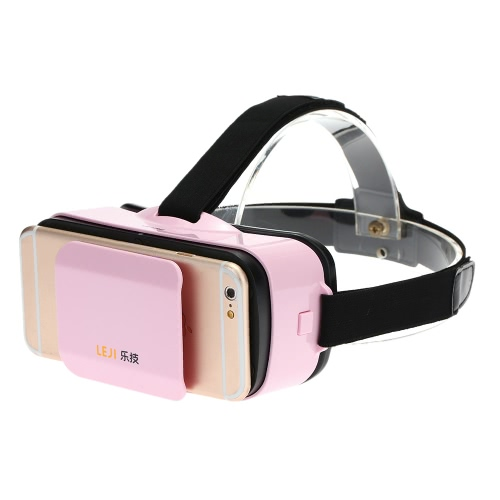 LEJI VR MINI Virtual Reality Glasses 3D VR Box 3D Movie Game Glasses Head-Mounted White for 4.5 to 5.5 Inches Android iOS Smart Phones V2270P