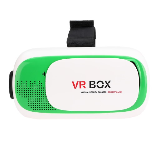 VR BOX 2.0 Virtual Reality Glasses 3D VR Box Headset 3D Movie Game Glasses Head-Mounted for 4.7 to 6.0 Inches Android iOS Smart Phones Green