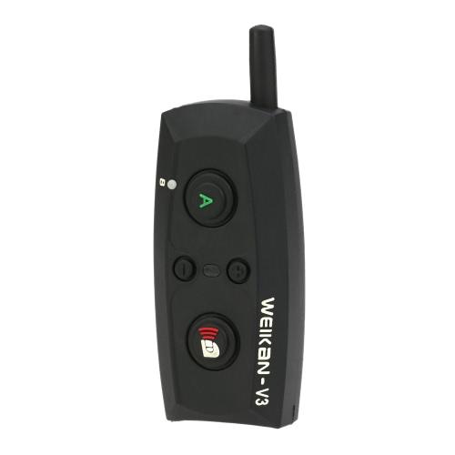 V3-1500 Motorcycle Bluetooth Headset / Intercom 1500M Hands-free Interphone Helmet Headset Black EU Plug