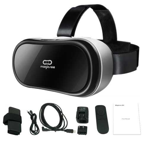 Magicsee M1 All-in-one Machine Virtual Reality Headset 3D Glasses 90��FOV 5.0Inch 1080p IPS Display Screen Supports 60Hz FPS 2D / 3D / Panorama / Three-dimensional Immersive Experience w / HDMI Micro USB port TF Card Slot