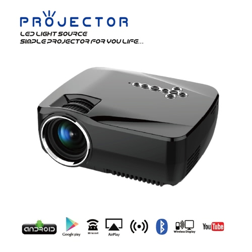 GP70UP LED Projector Android TV Box 800LM 800 * 480 Resolution 2.4G &amp; 5G WiFi Bluetooth 4.0 -US PlugGP70UP LED Projector Android TV Box 800LM 800 * 480 Resolution 2.4G &amp; 5G WiFi Bluetooth 4.0 -US Plug<br><br>Blade Length: 23.5cm