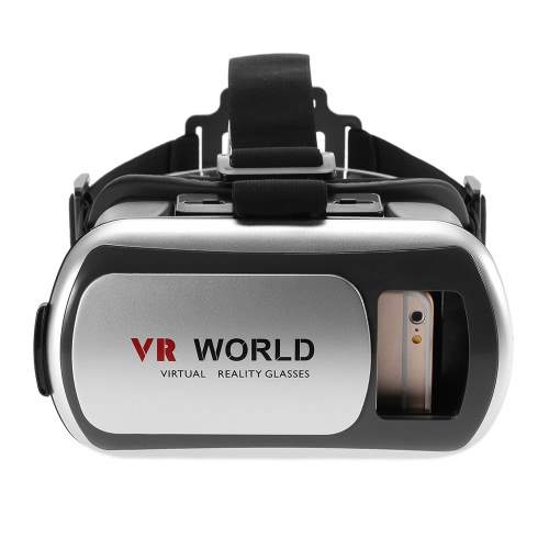Virtual Reality Glasses 3D VR Box Glasses Headset for Android iOS Windows Smart Phones with 3.5  to 6.0 Inches Silver