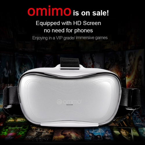 Omimo Immersive Smart Mobile Theater 3D Glasses Headset 1080P Resolution Display Head-Mounted Intelligent Mobile Cinema Headset with Wired Headphone HDMI Micro USB port TF Card Slot Headband V1629EU