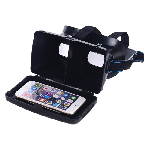 """Portable Plastic Version 3D VR Glasses  Virtual Reality DIY 3D Video VR Glasses with Magnetic Switch Hand Belt for All 3.5 ~ 6.0"""" Smart Phones"""