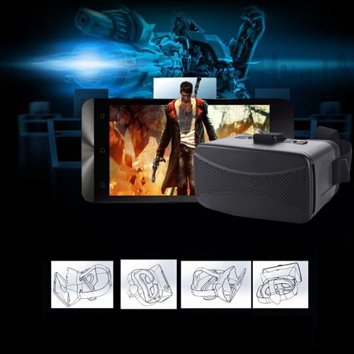 "CST-06 Google Cardboard Version 3D VR Glasses Virtual Reality DIY 3D VR Video Movie Game Glasses Head Mount with Headband for iPhone Samsung / All 4.0 ~ 6.0"""" Smart Phones"" V1215"