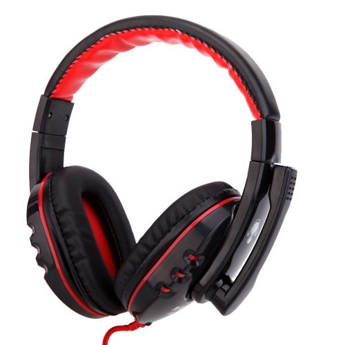 Professional Gaming Game Headphone Hifi Stereo Headset Earphone with Mic 3.5mm Plug for CS DOTA2 PC Computer Laptop Notebook V1227