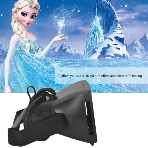 Andoer Google Cardboard Version 3D VR Glasses Virtual Reality DIY 3D VR Video Movie Game Glasses Head Mount with Headband for iPhone Samsung / All 3. V1398