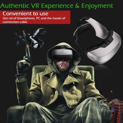 DeePoon M2 All-in-one Machine Virtual Reality Headset 3D Glasses 96��FOV 5.7Inch 2K AMOLED Display Screen Supports 60Hz / 70Hz FPS 2D / 3D / Panorama / Three-dimensional Immersive Experience