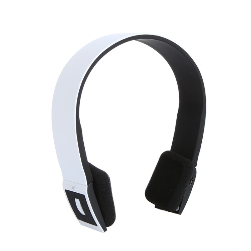2.4G Wireless Bluetooth V3.0 + EDR Headset Headphone with Mic for iPhone iPad Smartphone Tablet PC White V497W