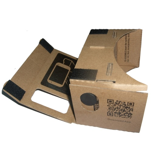 "DIY Google Cardboard Virtual Reality VR Mobile Phone 3D Viewing Glasses for 5.5"""" Screen"" V806M"