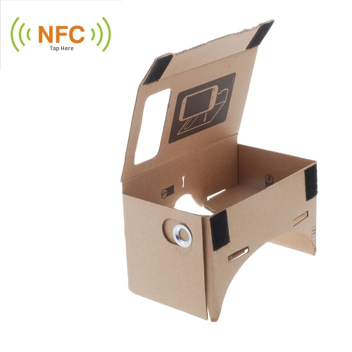 "DIY Google Cardboard Virtual reality VR Mobile Phone 3D Glasses with NFC Tag for 5.5"""" Screen"" V832S"