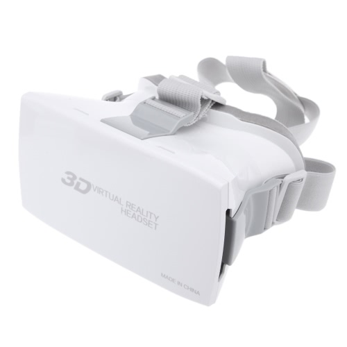 "Google Cardboard Plastic Version Virtual Reality DIY 3D Video Glasses VR Bi-convex Head Mount Hands-free for 4-6"""" Smartphone"" V875W"