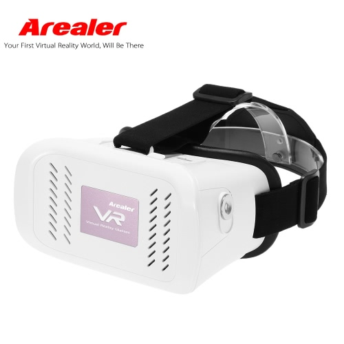 "Arealer VR Virtual Reality Glasses Headset 3D Glasses DIY 3D Movie Game Glasses w/ Magnetic Switch  Head-Mounted Headband for iPhone Samsung / All 3.5 ~ 6.0"""" Smart Phones"" V2045W"