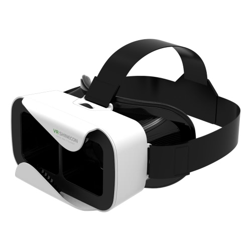 VR shinecon3.0 Xiao Cang Virtual Reality Glasses 3D VR Box Headset 3D Movie Game Glasses Head-Mounted for 4.7 to 6.0 Inches Android iOS Smart Phones White