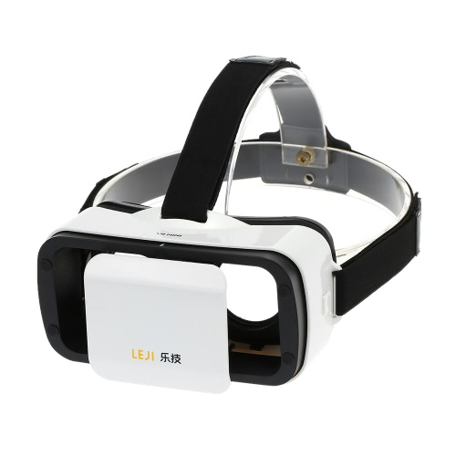 LEJI VR MINI Virtual Reality Glasses 3D VR Box 3D Movie Game Glasses Head-Mounted White for 4.5 to 5.5 Inches Android iOS Smart Phones V2270W