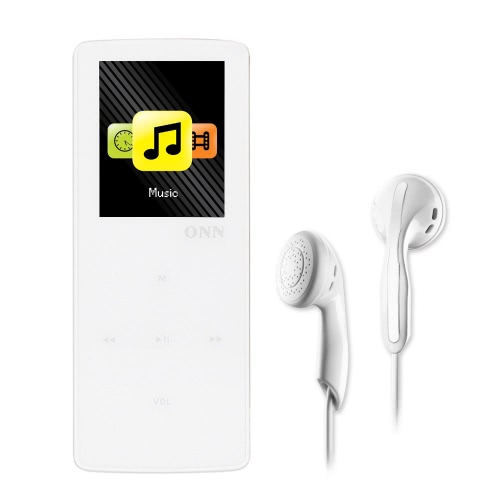 Buy ONN W6 8GB MP3 Player Bluetooth Lossless Music Support Sport Pedometer FM Radio TF Card Play 1.8 Inches Screen White