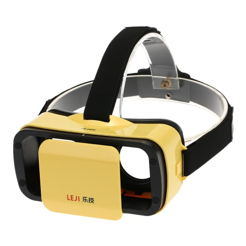 LEJI VR MINI Virtual Reality Glasses 3D VR Box 3D Movie Game Glasses Head-Mounted White for 4.5 to 5.5 Inches Android iOS Smart Phones V2270Y