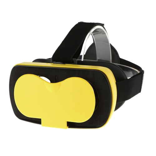 VR MINI Virtual Reality Glasses 3D VR Box Headset 3D Movie Game Glasses Head-Mounted Yellow for 4.5 to 5.5 Inches Android iOS Smart Phones