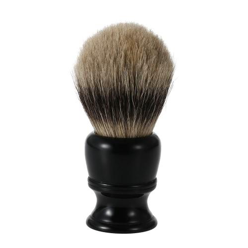 1pc Male Badger Shaving Brush Bristle Razor Brush Resin Handle Men's Black Whisker Cleaning Tool Kit