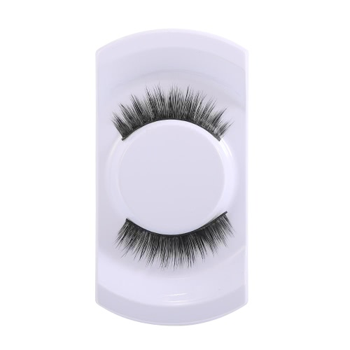 1 Pair Mink Eyelashes Black Upper Eyelashes Long False Lashes Hand-made Fake Eyes Cosmetic Tool W3081