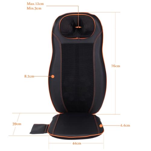 Neck & Back Massager Shiatsu Vibration Rolling Massage-cushion Massage Chair for Car and Home Use W2158-02