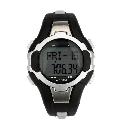 Water-resistant Heart Rate Monitor Calorie Counter Pedometer
