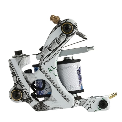 Buy Pro Tattoo Machine Shader Liner 10 Wrap Coils Instrument Accessories