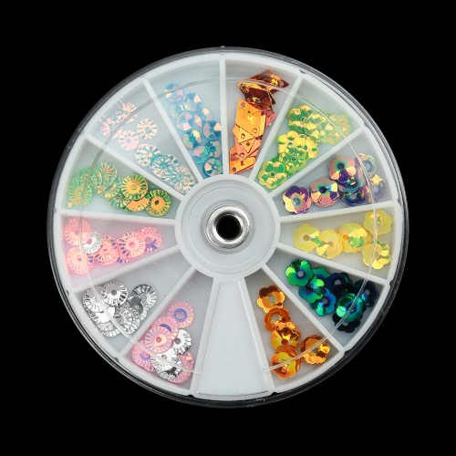 Buy 12Stud Nail Art Stickers 3D Tip Decals DIY Wheel Manicure Decors