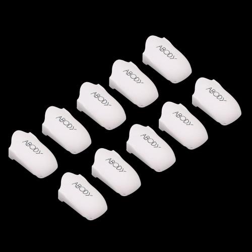 Abody 10pcs Reusable Nail Clip Plastic Nail