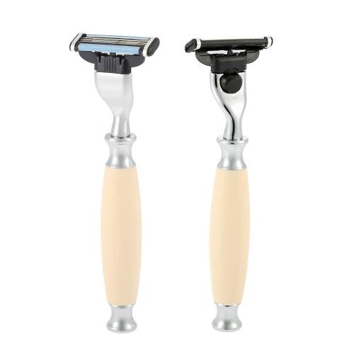 4 in 1 Men's Shaving Razor Set Pure Badger Shaving Brush + Shaving Stand + Stainless Steel Shaving Soap Bowl + Razor for Dry or Wet Facial Clean Shaver Tool