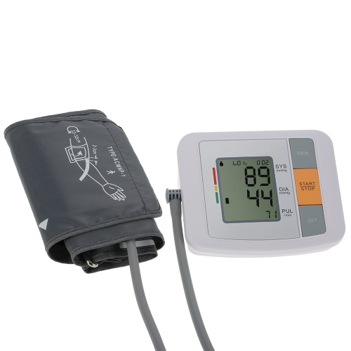 Buy Fully Automatic Upper Arm Blood Pressure Monitor Pro Tonometer Hematomanometer Sphygmomanometer Heart Rate Pulse