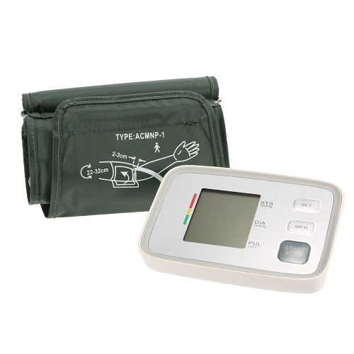 Buy Blood Pressure Monitor Upper Arm Wrist Automatic Tester Electronic Sphygmomanometer Digital LCD