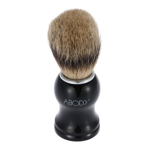 Abody Men's Blaireau Shaving Brush Male Hair Brush for Beard Cleaning Shave Facial Razor Brush with Plastic Handle Face Cleaning Tool for Barber Salon W2666